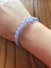 Lavender Crystal Bracelet Adjustable size Ships N 24h