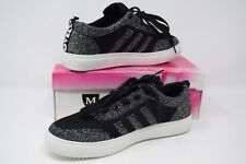 LADIES WOMENS 3 STRIPES GLITTER TRAINERS GYM RUNNING PLIMSOLLS SNEAKERS SHOES