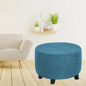 Soft Footstool Round Slipcover Cover Elastic Protector Home Decor Furniture