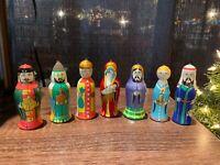 """Russian Christmas Ornaments """" Nativity"""" Beautiful Set! 7 pcs! Nice Gift!"""