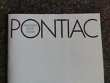 1967 PONTIAC ''RARE'' AUST RHD SALES BROCHURE. 100% GUARANTEE