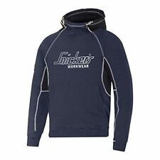 Snickers 28159504004 Logo Hoodie With Kangaroo Front Pocket Navy S