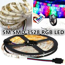 Waterproof 5M 300 SMD LED 3528 RGB Strip Light 12V+ Remote Controller 24 Key IR