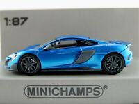 Minichamps 870 154424 McLaren 675 LT Coupé (2015) in blaumet. 1:87/H0 NEU/OVP