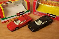 Burago 1/43 Ferrari Testarossa and Testarossa 1984