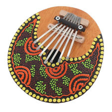 1PC Kalimba Thumb Piano 7 keys Tunable Smooth Coconut Shell Painted Design Mbira