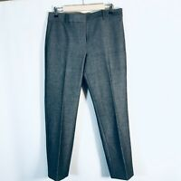 Ann Taylor Dress pants KATE Straight Leg NEW Size 6 gray lined Ankle crop