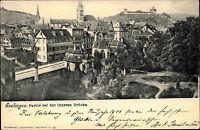 1903 Stempel ESSLINGEN Bahnhof auf AK Teilansicht Partie bei der inneren Brücke