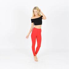Womens Cotton Leggings Full Length Ladies 195GSM