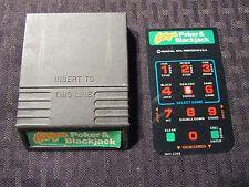 Vintage POKER & BLACKJACK Sears Game Cartridge w/ Instructions Untested