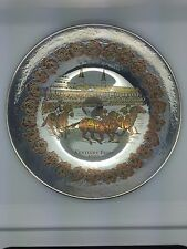 1972 Damascene Reed & Barton Kentucky Derby Limited Edition Plate 724/1000