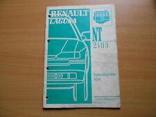 Renault Laguna (B56C)  - Werkstatthandbuch 2103 Automatikgetriebe AD4