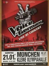 THE VOICE OF GERMANY  2017 MÜNCHEN - orig.Concert Poster -- Konzert Plakat  A1