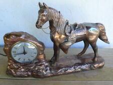 Vintage 1930-1960 Wm L Gilbert Copper Working Electric Horse Mantel Clock