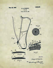 Ballet Dance Patent Poster Art Print Shoes Flats Tutu Leotard Skirt PAT02
