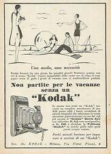 Y1160 KODAK Una moda, una necessità... - Illustrazione - Pubblicità 1930 - Adv.
