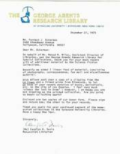 3 page 1979 letter to FORREST ACKERMAN from GEORGE ARENTS RESEARCH  LIBRARY
