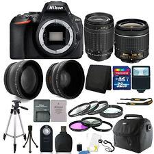 Nikon D5600 24.2 Mega píxeles cámara SLR + 18-55mm - D & 70-300mm Lente + Kit 32GB Accesorios