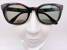 Vintage Meyrowitz One Fifty Brown Oval Horn-Rimmed Sunglasses FRAMES ONLY