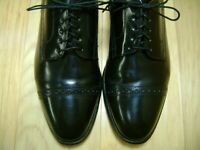 Men's Shoes JOHNSTON & MURPHY Cap Toe Oxfords Sz 8.5 M Black Leather MADE IN USA