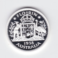 1998 Fine 99.9% SILVER Proof 20 Cent 1938 Coat of Arms Coin Australia