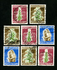 Italy Stamps # 544-6 VF 3 used sets Scott Value $105.00