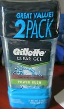 (2-Pack) Gillette Clear Gel Power Rush Antiperspirant Deodorant 3.8 oz Ea   3/20
