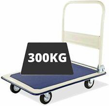 HEAVY DUTY FOLDING 300KG PLATFORM HAND SACK TROLLEY TRUCK CART BARROW UKDC