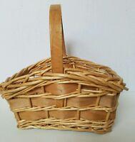 Vintage Woven Rattan Basket Wicker Gathering