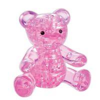 Jeruel 3D Crystal Puzzle DIY Jigsaw Assembly Toy Miniature Kit Pink Teddy Bear