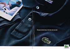 PUBLICITE ADVERTISING 035  1993  LACOSTE   coll  polo homme  ( 2 pages)