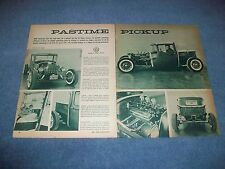 "1930 Ford Closed Cab Hot Rod Truck Vintage Article ""Pastime Pickup"""