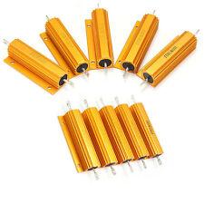 0.01-500 Ohm 100w Watt Shell Power Aluminum Housed Case Wirewound Resistor Hot 8 Ohm