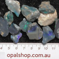Seam Opal from Lightning Ridge Black Opal Country, Opal Rough Parcel - Ro1914