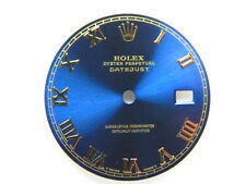 Rolex Mens Datejust Two Tone Blue Roman Numeral Dial