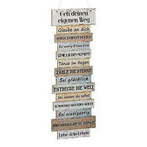 """Plankenschild """"Attitude"""" 15x41 Spruchtafel Leben Wandbild Wanddeko Deko Schild"""