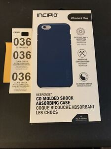 Incipio Response Case [Shock Absorbing] Co-molded Bumper for iPhone 6 PLUS- Navy