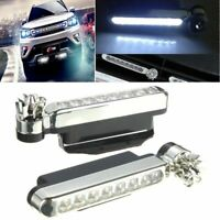 2x Wind Powered 8 LED Car DRL Daytime Running Light Fog Head Lamp Bulb White 12V