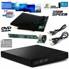 USB 2.0 External To SATA CD/DVD Combo RW ROM Drive Enclosure Caddy Case Cover UK
