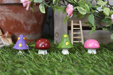 Fairy Garden Miniature Colourful Fairy Toadstools In Gift Bags  Set Of 4