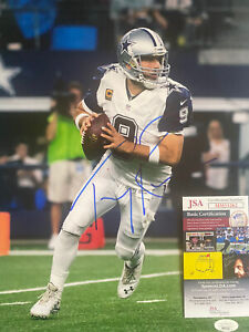 Tony Romo Signed 11x14 Dallas Cowboys Photo JSA Certified