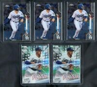 (5) Card Lot 2020 Topps Chrome Gavin Lux RC 3 Base #148 2 FF-12 Dodgers Rookie