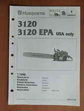 Ersatzteilliste HUSQVARNA Motorsäge 3120 u. EPA USA list chain saw Walbro WG 6 7