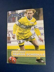 Cleveland Force 2004/05  MISL Indoor Soccer Pocket Schedule - NPSL CISL MASL