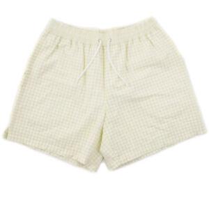 NWT $395 BRIONI Lime Green Check Swimsuit XL (36-38 Waist) Swim Trunks