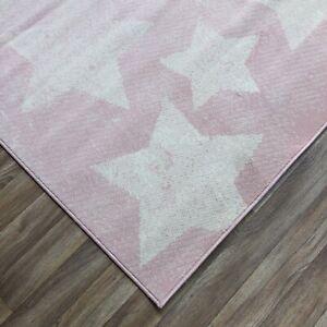 Quality star  pink Rug lounge bedroom children's 120cm x 170cm  (636)