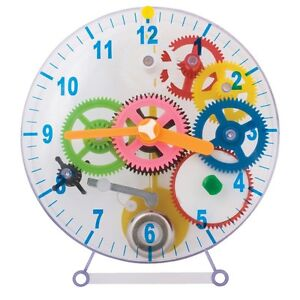WIND UP CLOCK - SC183 MAKE YOUR OWN GEARS COGS CHIME SCIENCE KIDS