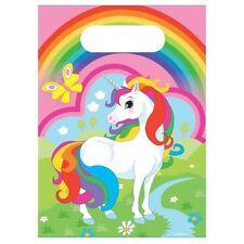 Arco Iris Unicornio Fiesta Loot Bolsas x8!