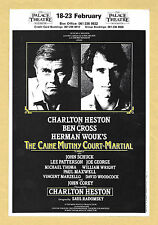 "Charlton Heston ""CAINE MUTINY COURT MARTIAL"" Ben Cross 1985 Pre-London Flyer"