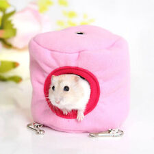 Cute Hamster Hanging Cage Hammock House with Bed Mat for Small Furry Animal